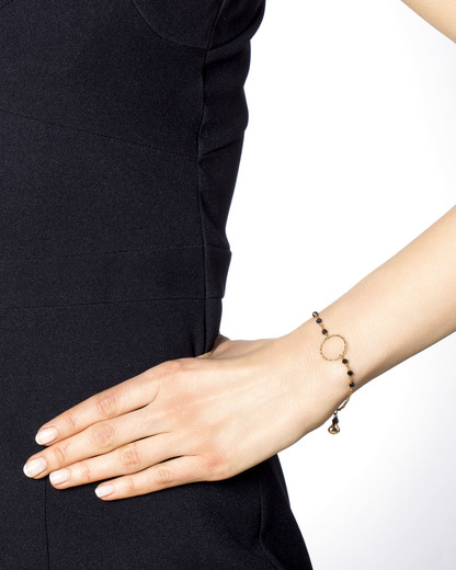 Armband 925 Sterling Silber-Onyx allesausliebe by milla k gold,schwarz Onyx 4250945513431