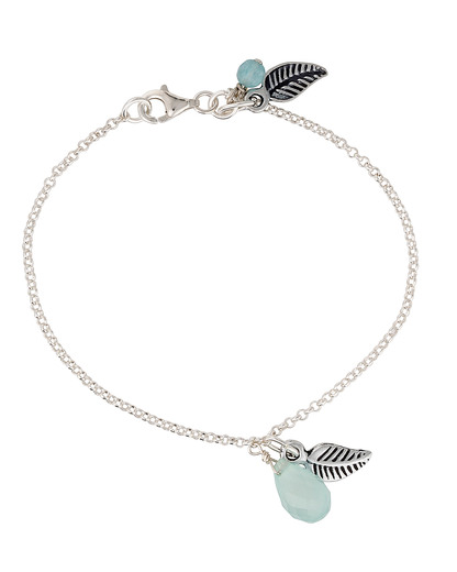 Armband 925 Sterling Silber allesausliebe by milla k blau,silber Chalcedon 4250945518566