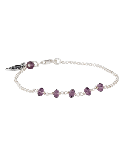 Armband 925 Sterling Silber-Amethyst allesausliebe by milla k 4250945518580