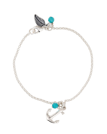 Armband 925 Sterling Silber allesausliebe by milla k blau,silber Chalcedon 4250945518603