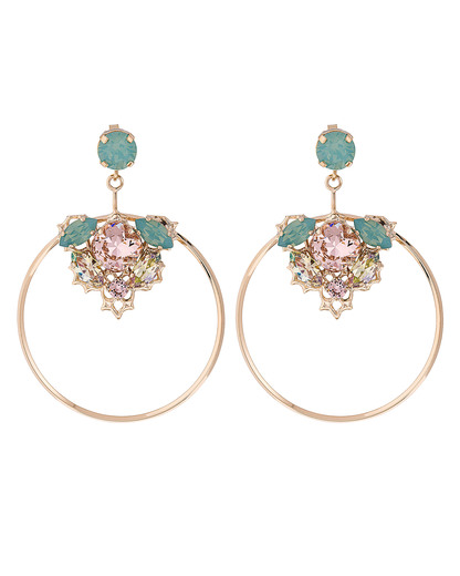 Ohrhänger Crystal Hoops Messing Anton Heunis 4250945516791