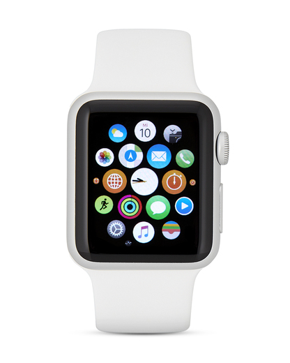 Smartwatch Apple Watch Sport Series 1 AP.MJ2T2FD/A Apple silber,weiß 888462139748