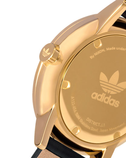 Quarzuhr District_L1 Z08-1604-00 Gold / Black Sunray  adidas Originals Damen,Herren Leder 3608700936772