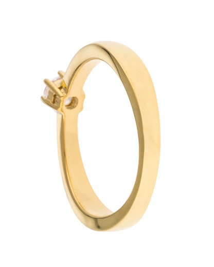 Ring Timex® Time Teacher 925 Sterling Silber-Zirkonia Anna-Malou gold Zirkonia