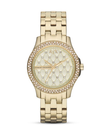 Quarzuhr AX5216 ARMANI EXCHANGE gold,weiß 4053858096981