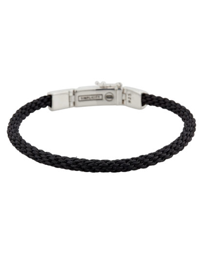 Armband Simplicity aus Stoff & 925 Sterling Silber  Buddha to Buddha schwarz,silber  8718997009600