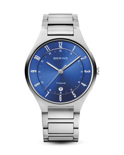 Quarzuhr Titanium Collection 11739-707 BERING Silber 4894041103372