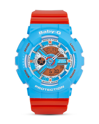 Chronograph BA-110NC-2AER BABY-G blau,orange 4549526100215