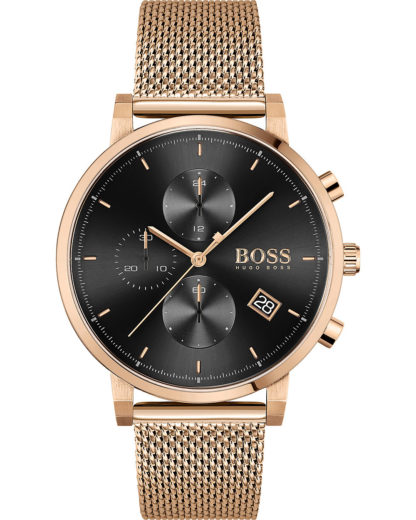 Boss Herren-Uhren Analog Quarz BOSS roségold 7613272390651