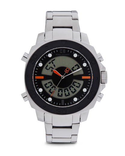 Digitaluhr 1512843 BOSS Orange schwarz,silber 7613272090711