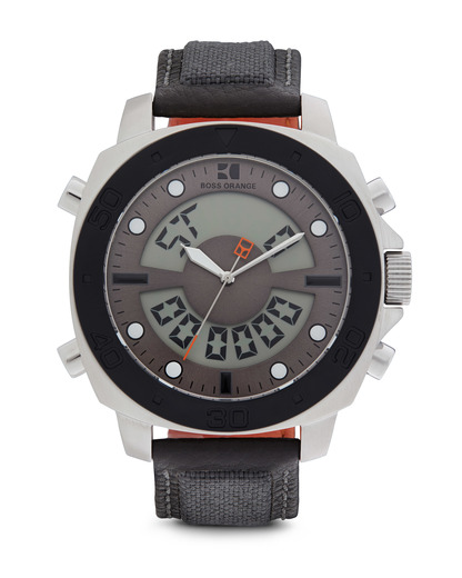 Digitaluhr 1512680 BOSS Orange grau,silber 7613272019279