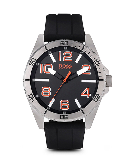 Quarzuhr BIG TIMES 1512943 BOSS Orange orange,schwarz,silber 7613272099707