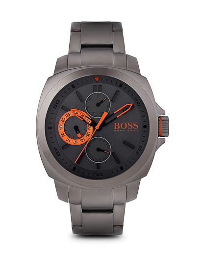 Quarzuhr GLANDORA GREY 1513103 BOSS Orange grau,orange 7613272143516