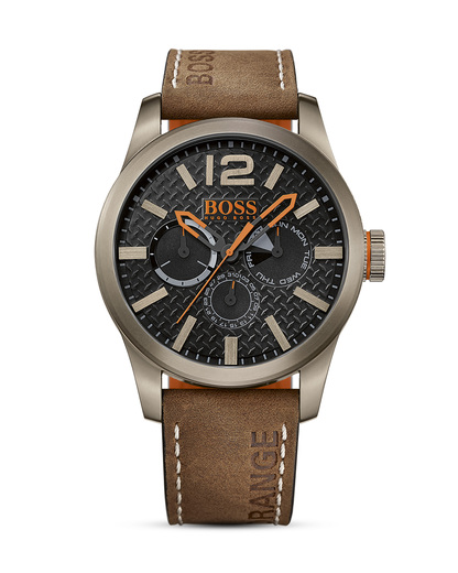 Quarzuhr Paris Multieye 1513240 BOSS Orange braun,schwarz 7613272175081