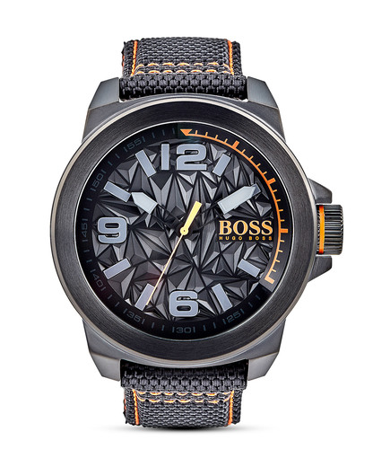 Quarzuhr New York 1513343 BOSS Orange grau,orange,schwarz 7613272205047