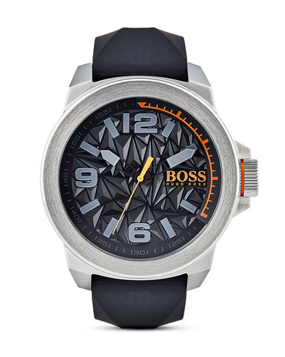 Quarzuhr New York 1513345 BOSS Orange orange,schwarz,silber 7613272205061