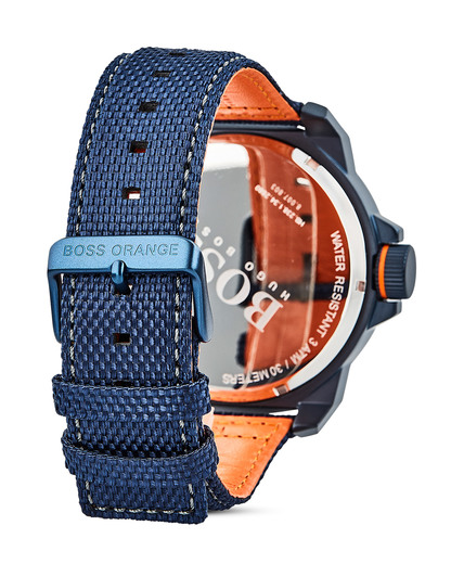 Quarzuhr New York 1513353 BOSS Orange Herren Stoff 7613272205146