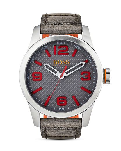 Quarzuhr Paris 1513351 BOSS Orange braun,grau,rot,silber 7613272205122