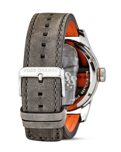Quarzuhr Paris 1513351 BOSS Orange Herren Leder 7613272205122