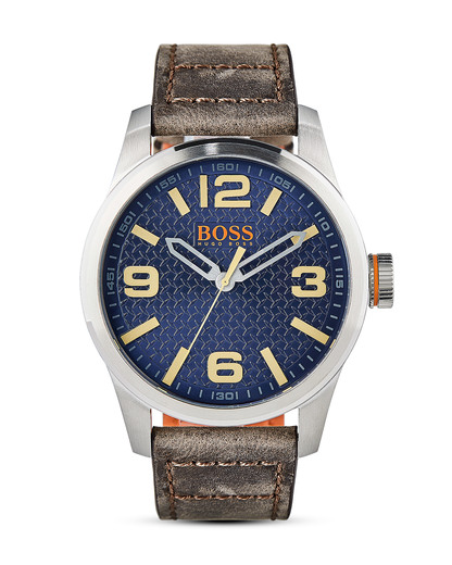 Quarzuhr Paris 1513352 BOSS Orange blau,braun,silber 7613272205139