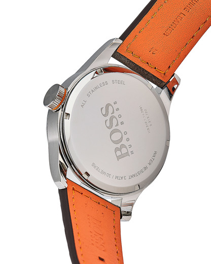 Quarzuhr Paris 1513352 BOSS Orange Herren Leder 7613272205139