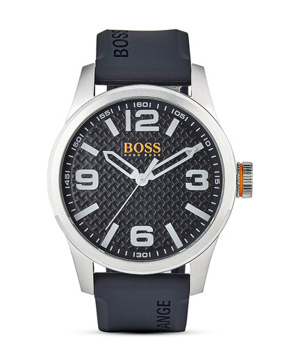 Quarzuhr Paris 1513350 BOSS Orange schwarz,silber 7613272205115