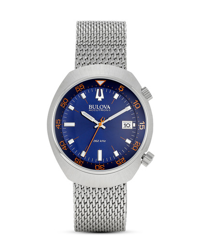 Quarzuhr ACCUTRON II 96B232 BULOVA blau,orange,silber 7613077526965