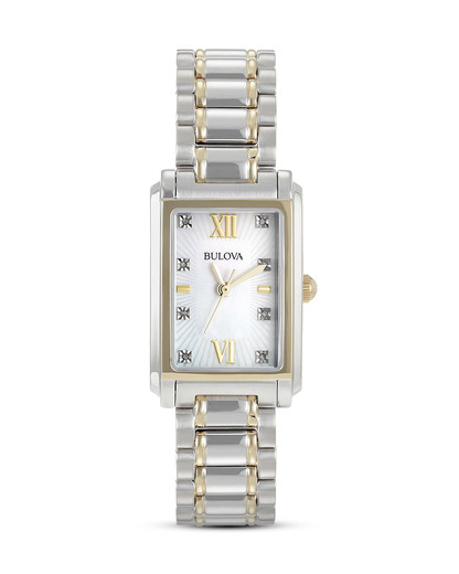 Quarzuhr DIAMONDS 98P144 BULOVA gold,silber 7613077526682