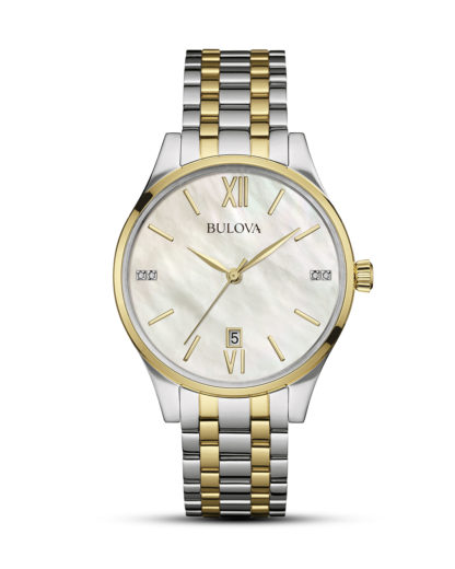 Quarzuhr Diamonds 98S149 BULOVA gold,silber 7613077532324