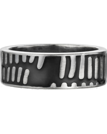 Ring Culture Collector aus Sterling Silber caï Schwarz