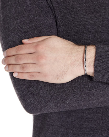 Armband Royal Punk aus 925 Sterling Silber mit Spinell caї schwarz,silber Spinell 4045228894983