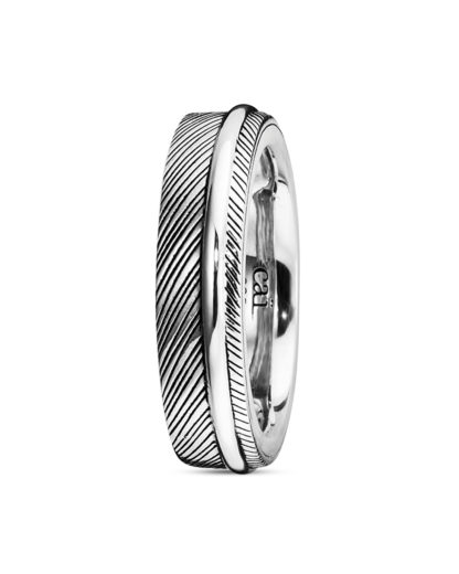 Ring Feather aus 925 Sterling Silber  caї