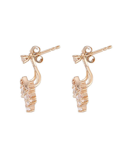 Ohrstecker Ear Jackets Crown Drop Gold legiert mit Zirkonia Clashd Jewelry gold,weiß Zirkonia 764831611735