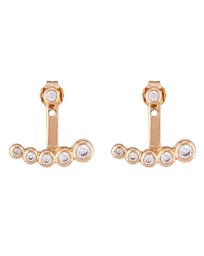 Ohrstecker Ear Jackets Crystal Drop Gold legiert mit Zirkonia Clashd Jewelry 764831611742