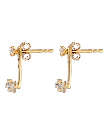 Ohrstecker Ear Jackets Arrow Gold legiert mit Zirkonia Clashd Jewelry gold,weiß Zirkonia 764831611759