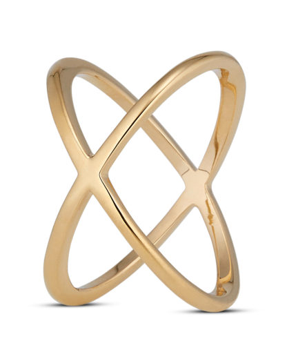 Ring Simple X Gold legiert  Clashd Jewelry
