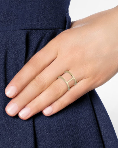 Ring Double Gold legiert Clashd Jewelry gold Kein Schmuckstein
