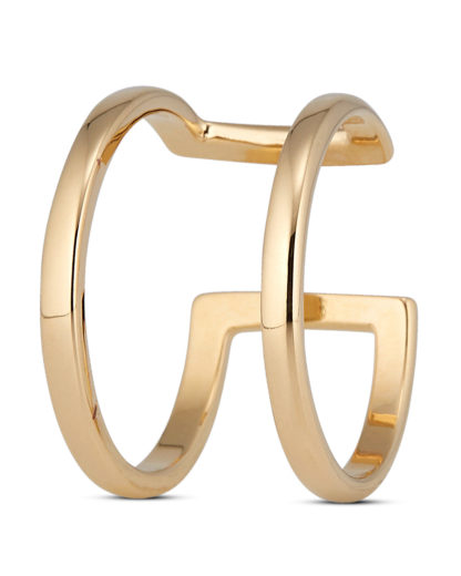 Ring Open Double Gold legiert Clashd Jewelry gold Kein Schmuckstein
