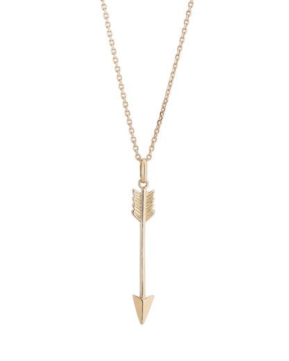 Halskette Arrow Gold legiert Clashd Jewelry 764831612084