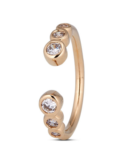 Ring Clear Crystal Gold legiert mit Zirkonia Clashd Jewelry