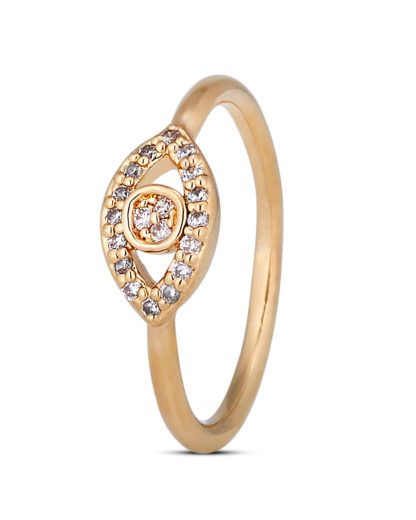 Ring Evil Eye Gold legiert mit Zirkonia Clashd Jewelry