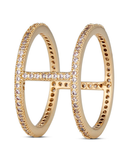 Ring Fancy Gold legiert mit Zirkonia Clashd Jewelry