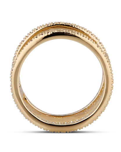 Ring Fancy Gold legiert mit Zirkonia Clashd Jewelry gold,weiß Zirkonia