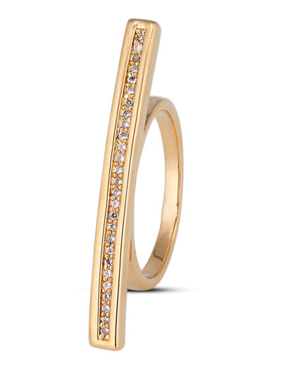 Ring Crystal Bar Gold legiert mit Zirkonia Clashd Jewelry
