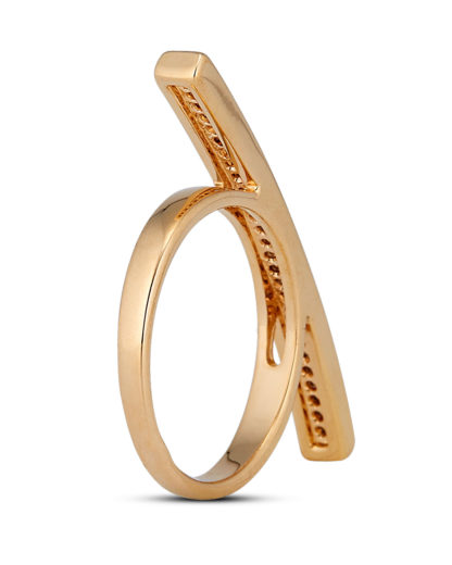 Ring Crystal Bar Gold legiert mit Zirkonia Clashd Jewelry gold,weiß Zirkonia