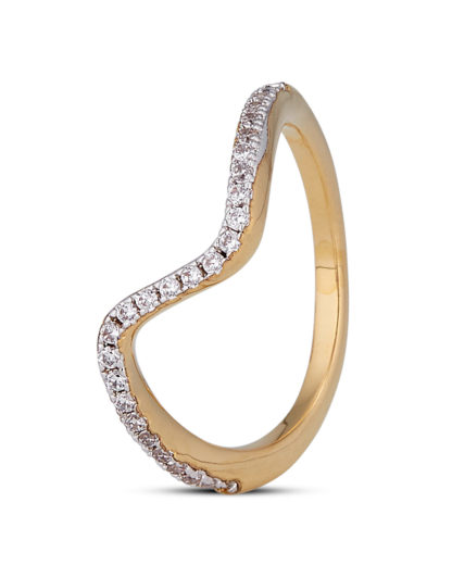 Ring Wave Crystal Gold legiert mit Zirkonia Clashd Jewelry