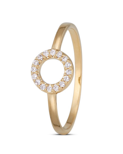 Ring Crystal Circle Gold legiert mit Zirkonia Clashd Jewelry