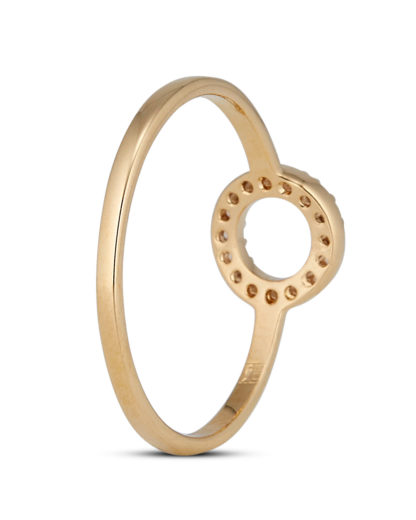 Ring Crystal Circle Gold legiert mit Zirkonia Clashd Jewelry gold,weiß Zirkonia