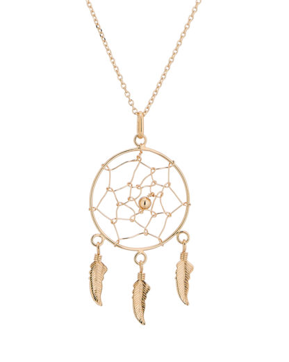 Halskette Dream Catcher Gold legiert Clashd Jewelry 764831613111