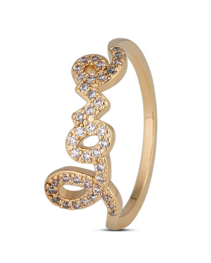 Ring Love Gold legiert mit Zirkonia Clashd Jewelry